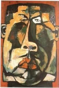 El autor del cuadro Oswaldo GuayasamIn. EL MACUTO,